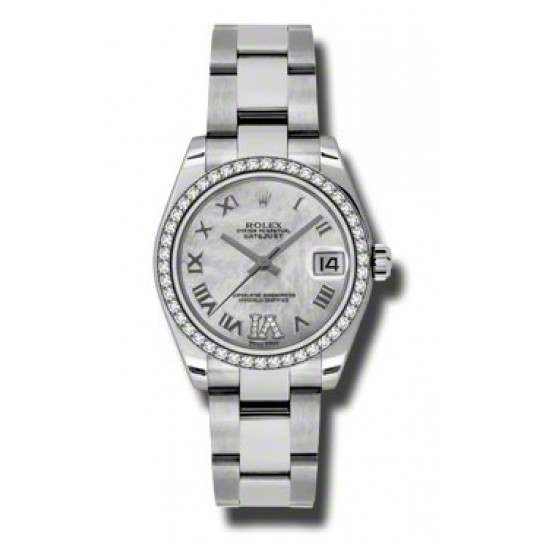 Rolex Lady Datejust 31mm White mop Roman Oyster 178384