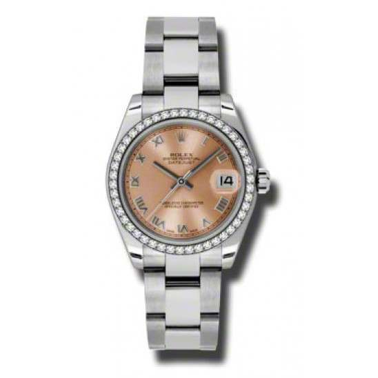 Rolex Lady Datejust 31mm Pink Roman Oyster 178384