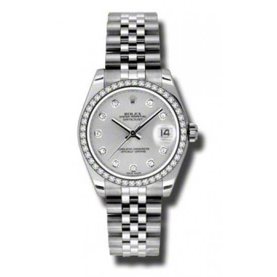 Rolex Lady Datejust 31mm Silver/diamond Jubilee 178384