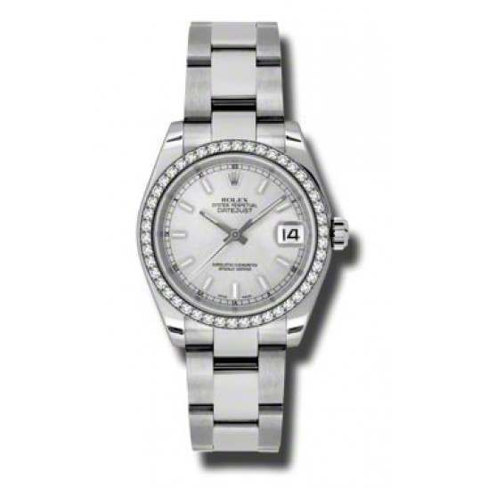 Rolex Lady Datejust 31mm Silver/index Oyster 178384