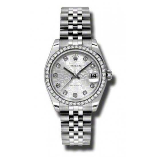 Rolex Lady Datejust 31mm Silver Jub/diamond Jubilee 178384