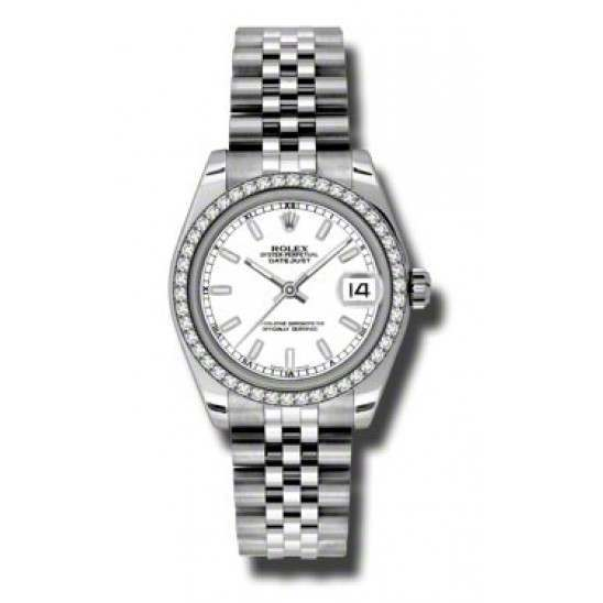 Rolex Lady Datejust 31mm White/index Jubilee 178384