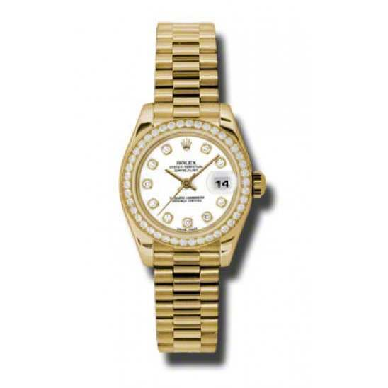 Rolex Lady-Datejust White/Diamond President 179138