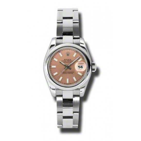 Rolex Lady-Datejust Pink/index Oyster 179160