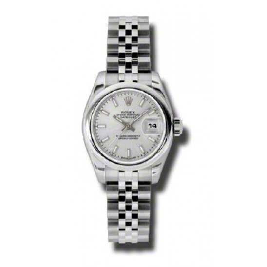 Rolex Lady-Datejust Silver/index Jubilee 179160