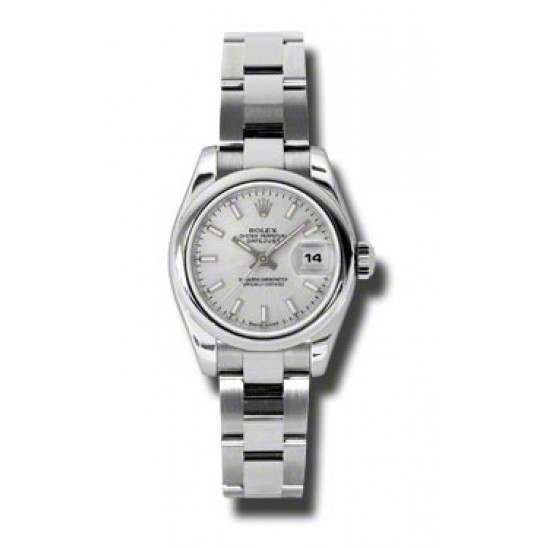 Rolex Lady-Datejust Silver/index Oyster 179160
