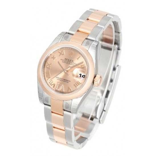 Rolex Lady-Datejust Pink Roman Oyster 179161