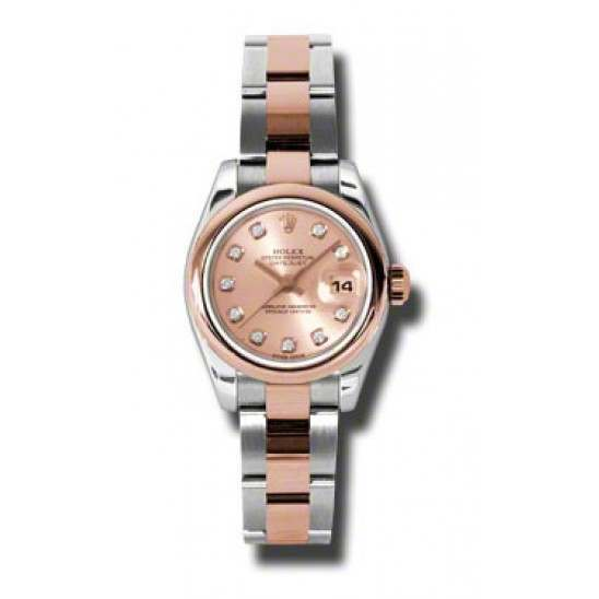 Rolex Lady-Datejust Pink/Diamond Oyster 179161
