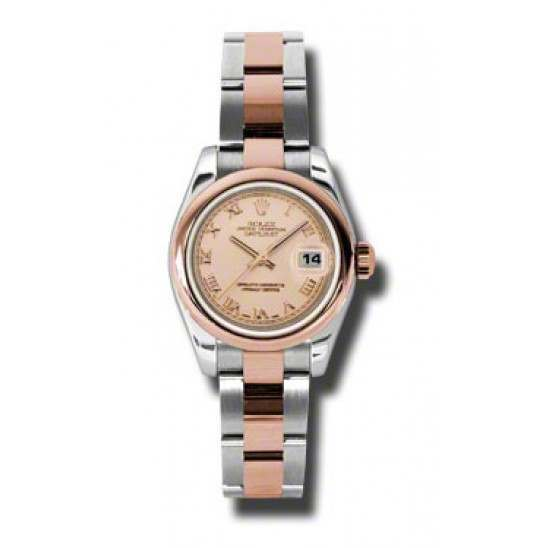 Rolex Lady-Datejust Pink Roman Oyster 179161
