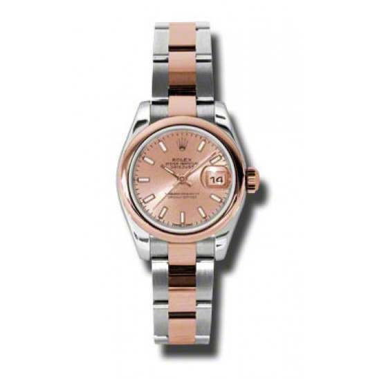 Rolex Lady-Datejust Pink/index Oyster 179161