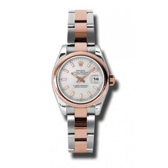 Rolex Lady-Datejust Silver/index Oyster 179161