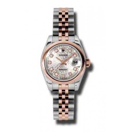 Rolex Lady-Datejust Silver Jub/Diamond Jubilee 179161