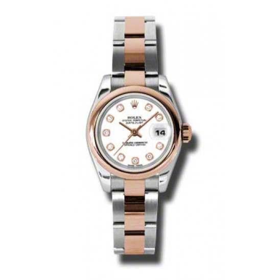 Rolex Lady-Datejust White/Diamond Oyster 179161