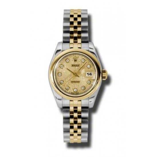 Rolex Lady-Datejust Champagne Jub/Diamond Jubilee 179163