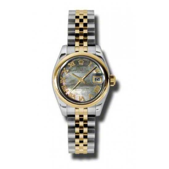 Rolex Lady-Datejust Black mop Roman Jubilee 179163