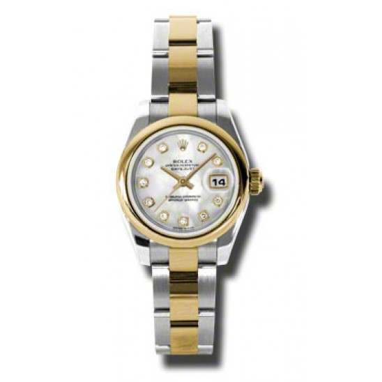 Rolex Lady-Datejust White mop/Diamond Oyster 179163