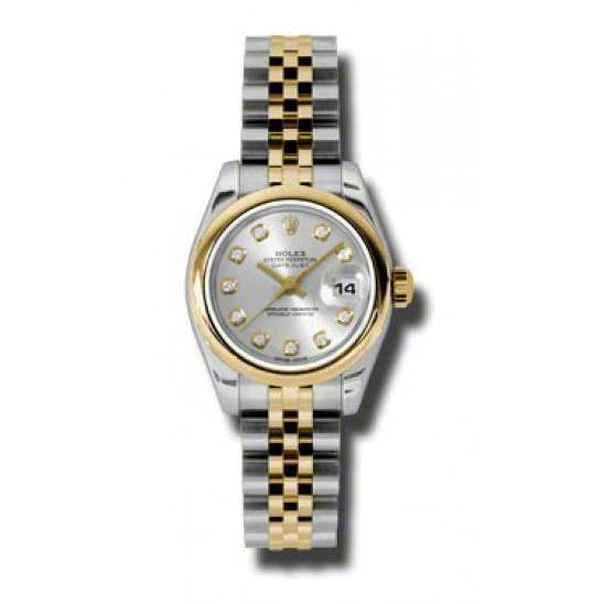 Rolex Lady-Datejust Silver/Diamond Jubilee 179163