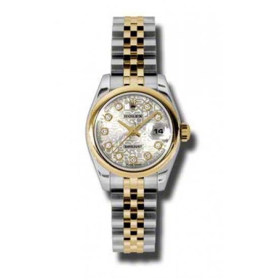 Rolex Lady-Datejust Silver Jub/Diamond Jubilee 179163