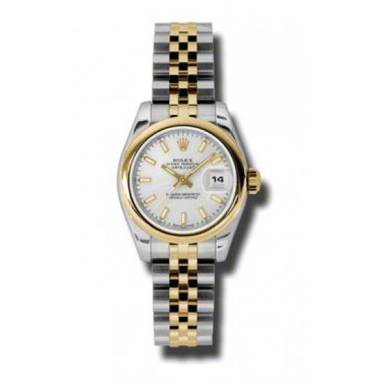Rolex Lady-Datejust Silver/index Jubilee 179163