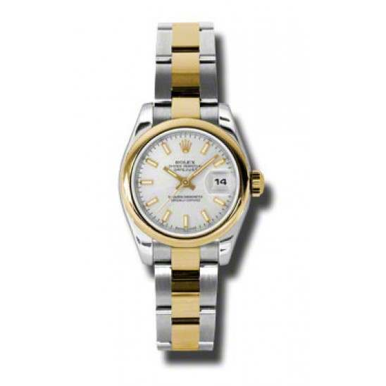 Rolex Lady-Datejust Silver/index Oyster 179163