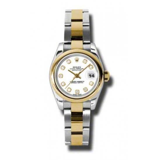 Rolex Lady-Datejust White/Diamond Oyster 179163