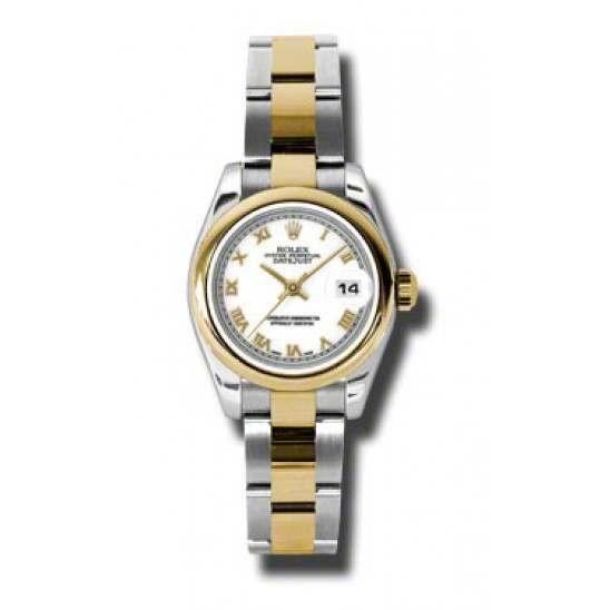 Rolex Lady-Datejust White Roman Oyster 179163
