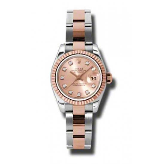 Rolex Lady-Datejust Pink/Diamond Oyster 179171