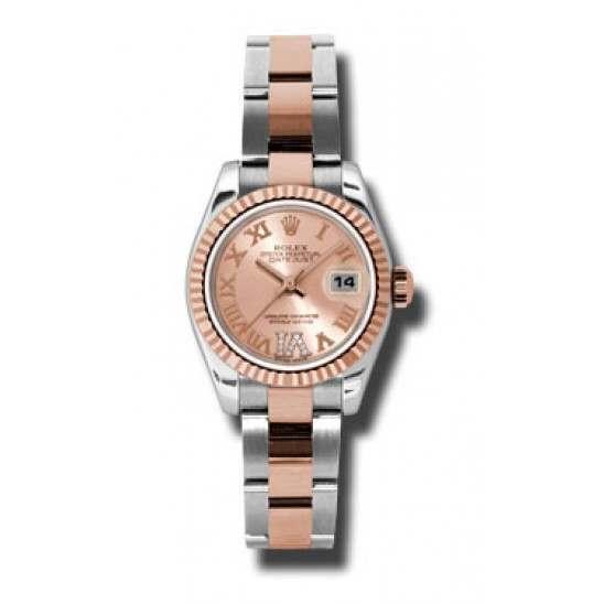 Rolex Lady-Datejust Pink Roman Oyster 179171