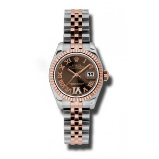 Rolex Lady-Datejust Chocolate Roman Jubilee 179171