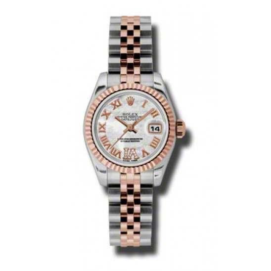 Rolex Lady-Datejust White mop Roman Jubilee 179171