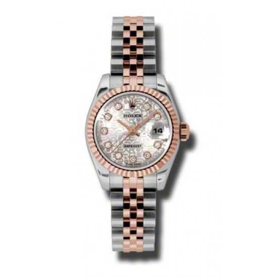 Rolex Lady-Datejust Silver Jub/Diamond Jubilee 179171