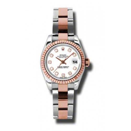 Rolex Lady-Datejust White/Diamond Oyster 179171