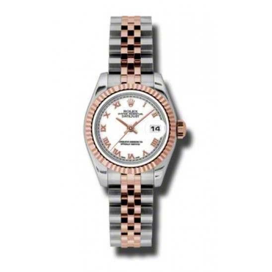 Rolex Lady-Datejust White Roman Jubilee 179171