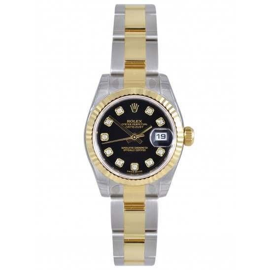 Rolex Lady-Datejust Black/Diamond Oyster 179173