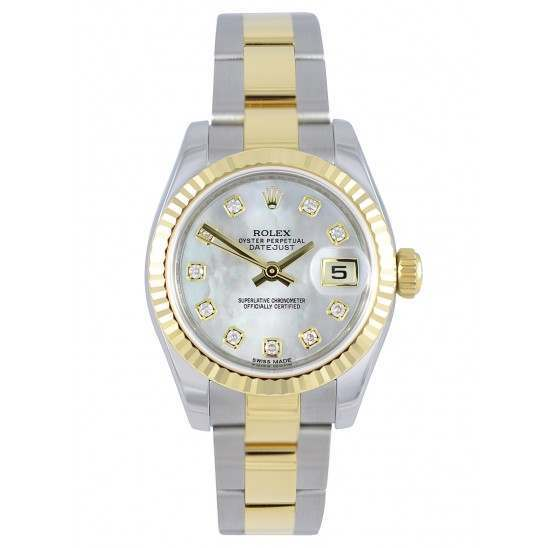 Rolex Lady-Datejust White mop/Diamond Oyster 179173