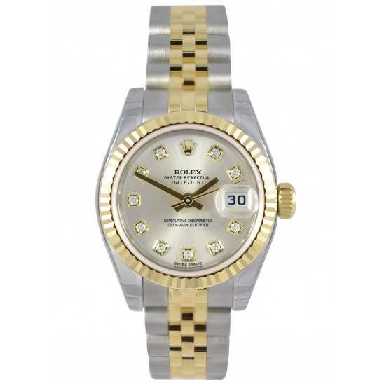 Rolex Lady-Datejust Silver/Diamond Jubilee 179173