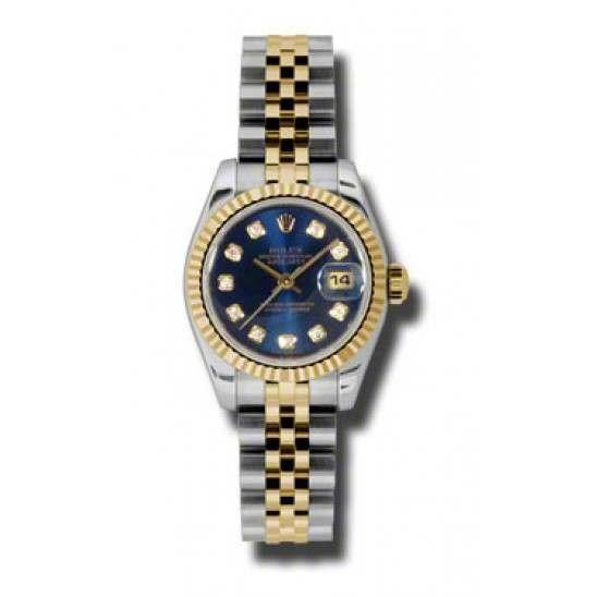 Rolex Lady-Datejust Blue/Diamond Jubilee 179173