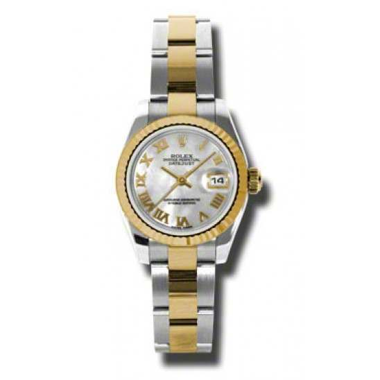 Rolex Lady-Datejust White mop Roman Oyster 179173