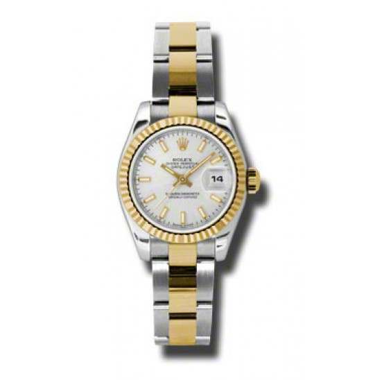 Rolex Lady-Datejust Silver/index Oyster 179173