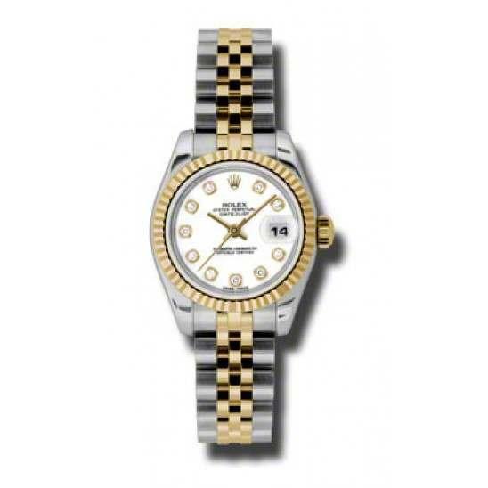 Rolex Lady-Datejust White/Diamond Jubilee 179173