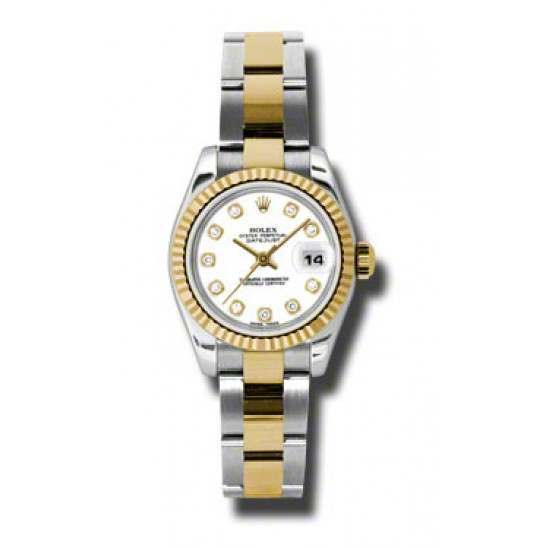 Rolex Lady-Datejust White/Diamond Oyster 179173