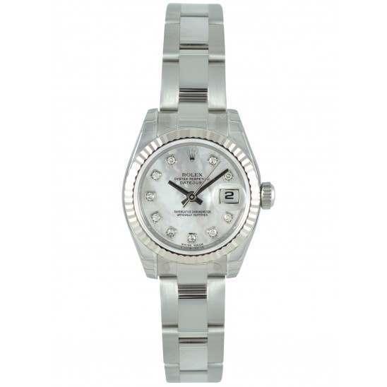 Rolex Lady-Datejust White mop/Diamond Oyster 179174