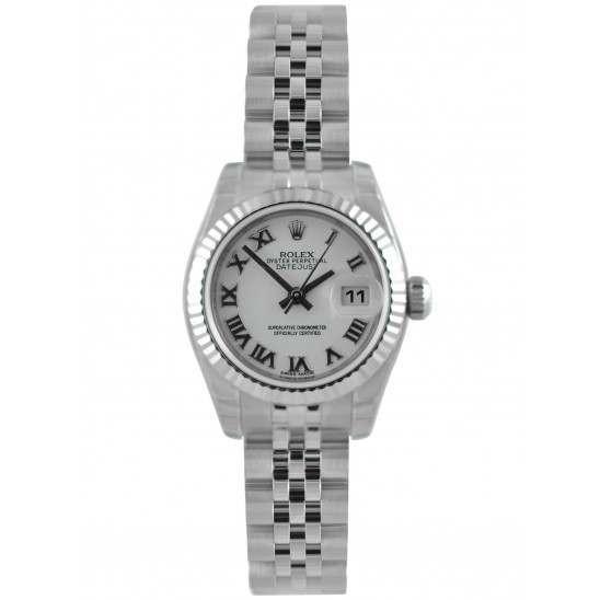 Rolex Lady-Datejust White Roman Jubilee 179174