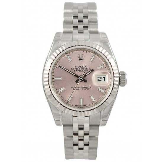 Rolex Lady-Datejust Pink/index Jubilee 179174