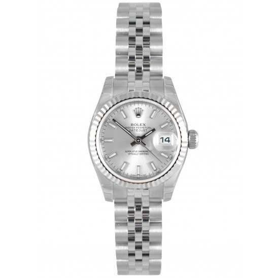 Rolex Lady-Datejust Silver/index Jubilee 179174