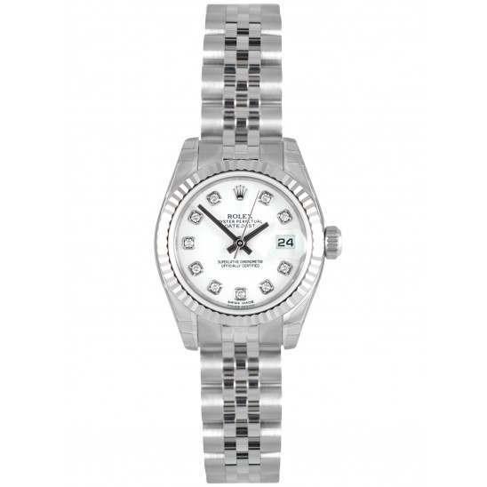 Rolex Lady-Datejust White/Diamond Jubilee 179174