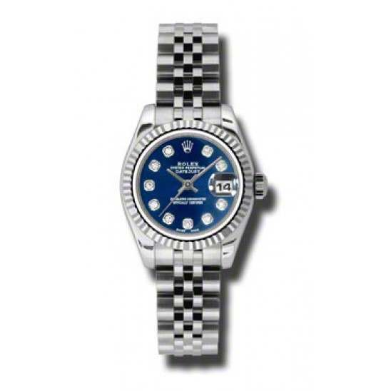Rolex Lady-Datejust Blue/Diamond Jubilee 179174