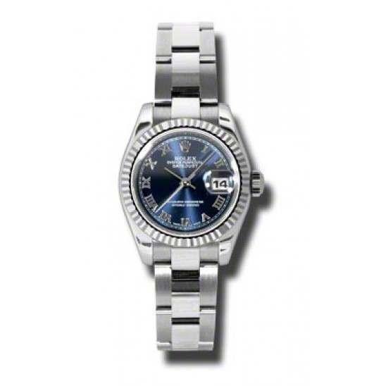 Rolex Lady-Datejust Blue Roman Oyster 179174