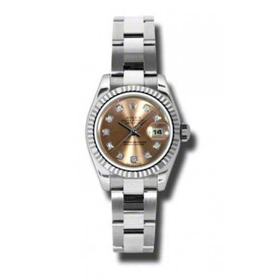 Rolex Lady-Datejust Pink/Diamond Oyster 179174
