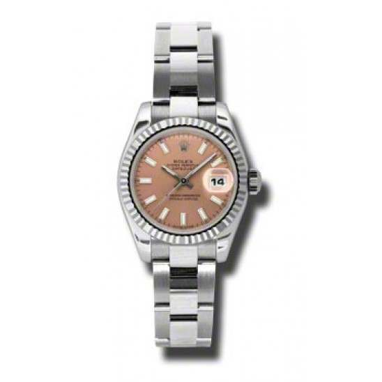 Rolex Lady-Datejust Pink/index Oyster 179174